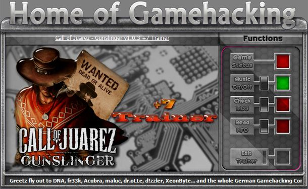 Call of Juarez: Gunslinger v1.0.3 Steam +7 Trainer [HoG]